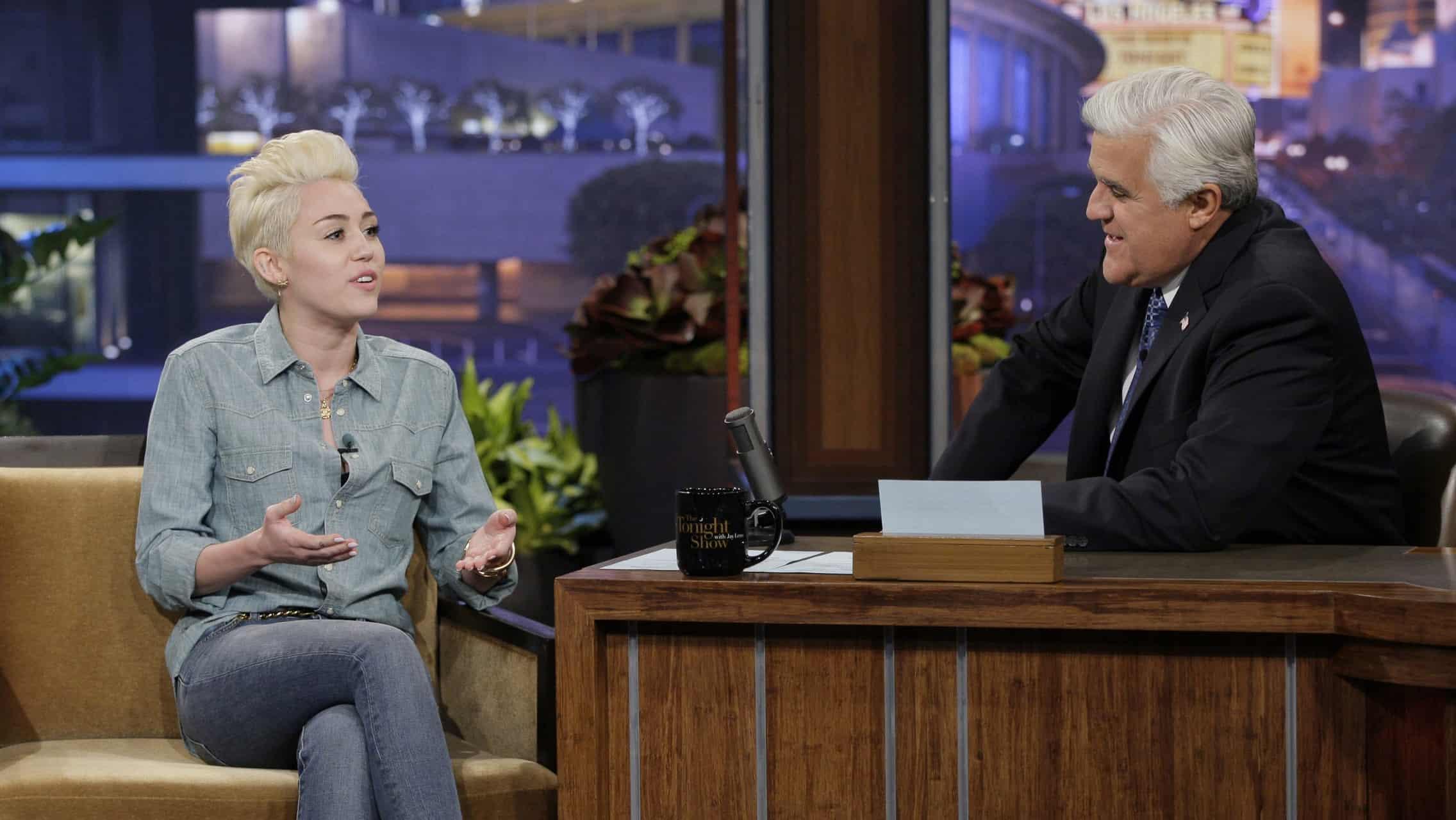 Miley Cyrus Jay Leno