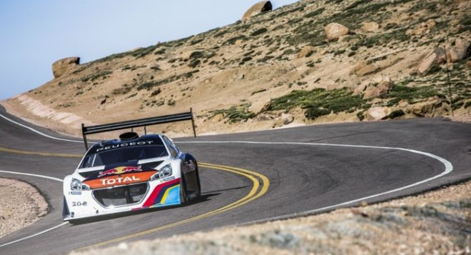 Sebastien Loeb performs during the free tests of the Pikes Peak International Hill Climb at Pikes Peak in Colorado Springs, USA on June 28th, 2013 // Flavien Duhamel/Red Bull Content Pool // P-20130629-00003 // Usage for editorial use only // Please go to www.redbullcontentpool.com for further information. //