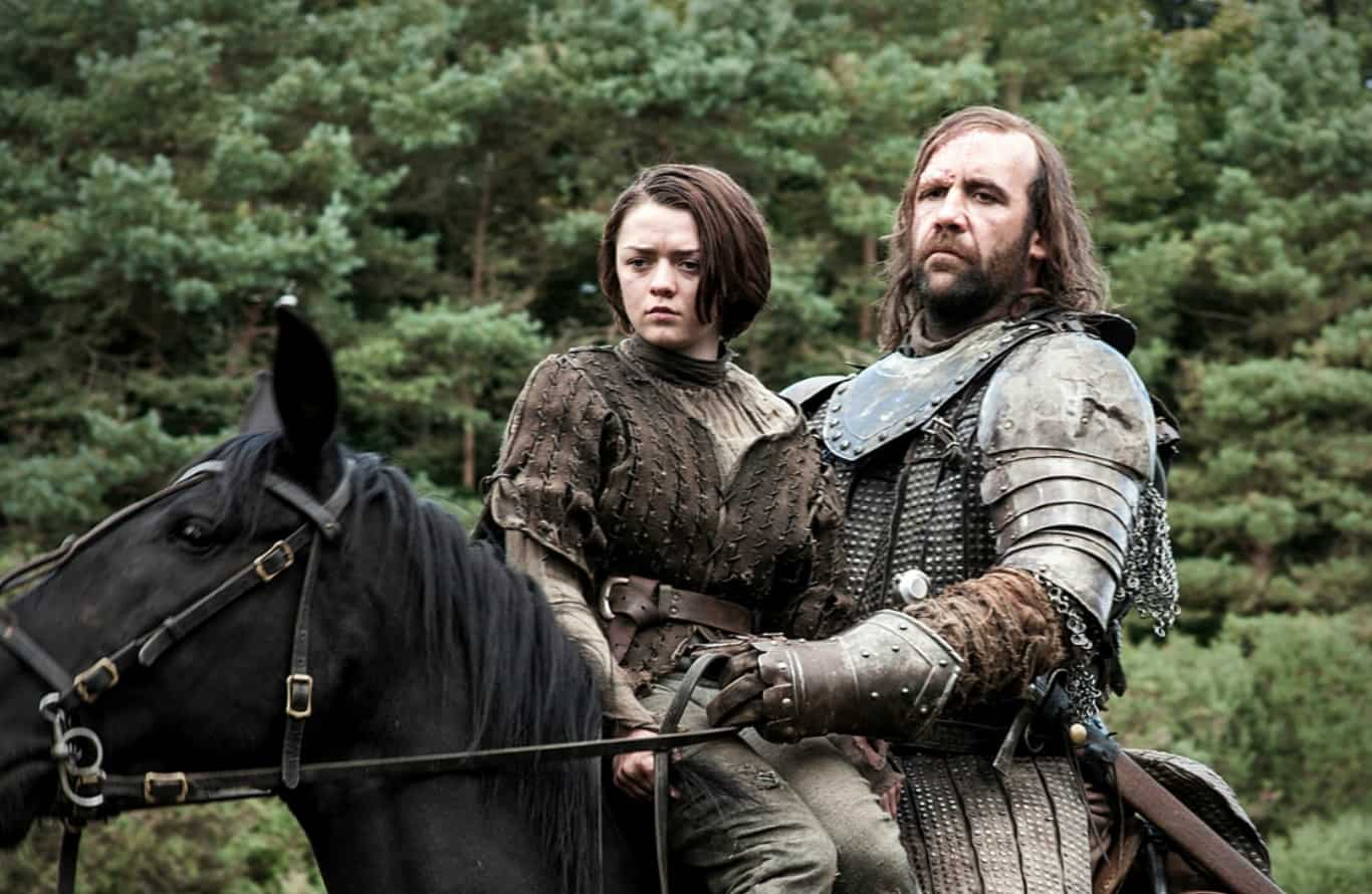 Arya et The Hound dans Game of Thrones saison 4