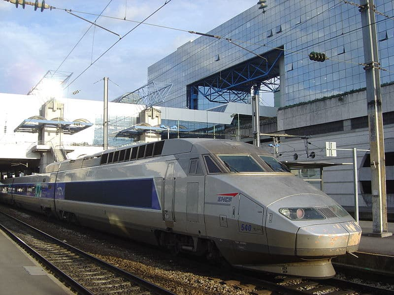 Photo d'illustration. Un TGV en gare.
