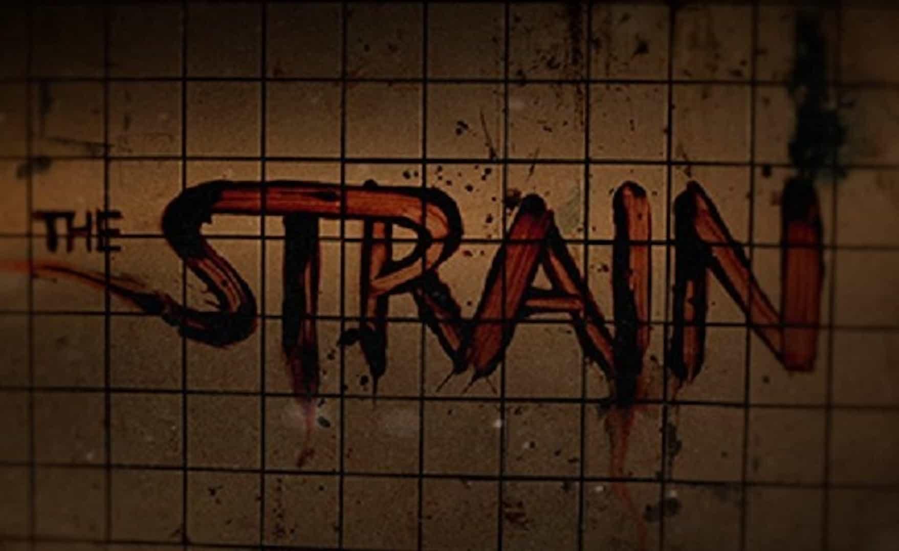 Affiche promotionnelle pour la série The Strain
