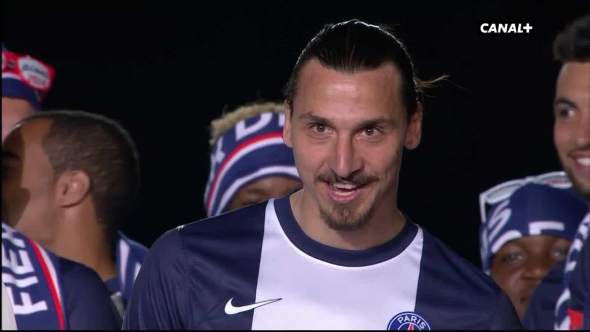 Zlatan Ibrahimović lors de la remise de l'Hexagoal, le 17 mai 2014