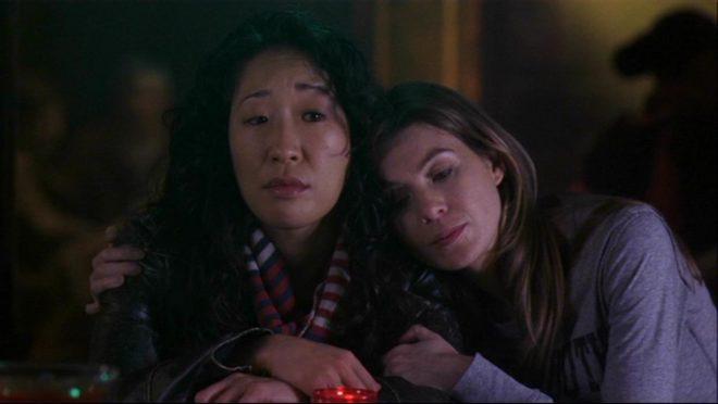 Cristina et Meredith dans Grey's Anatomy