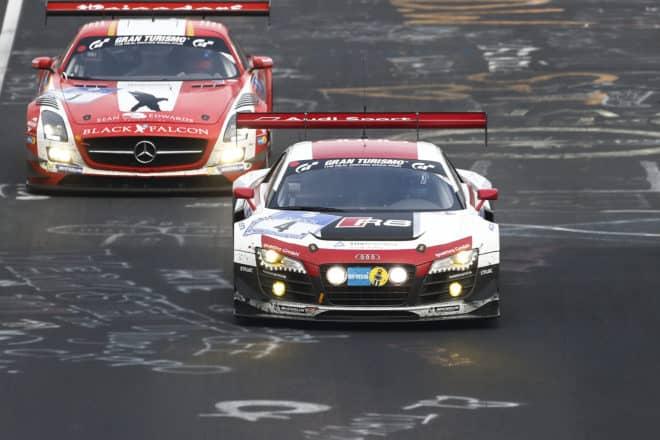 Audi R8 LMS ultra du Phoenix Racing aux 24 Heures du Nurburgring 2014