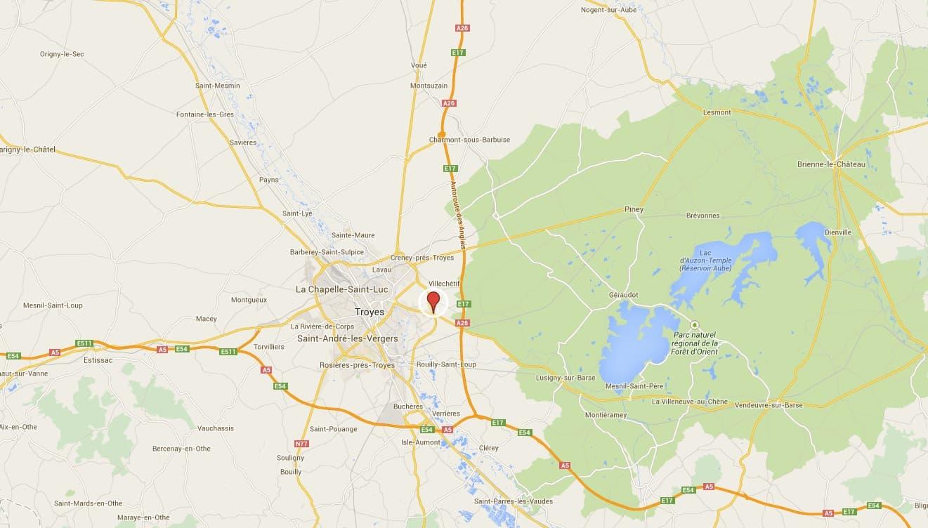 Le lieu de l'accident près de Troyes dans l'Aude