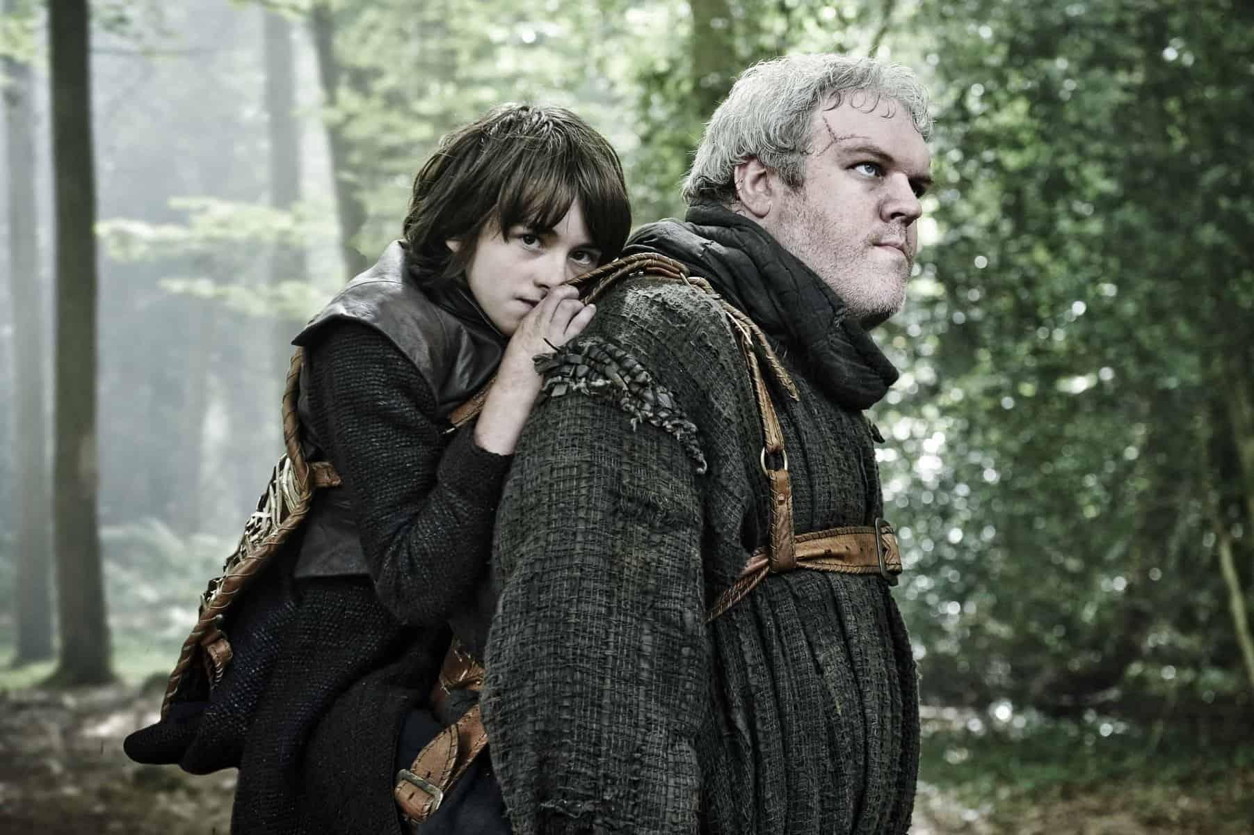 Les personnages Bran et Hodor dans la série Game of Thrones
