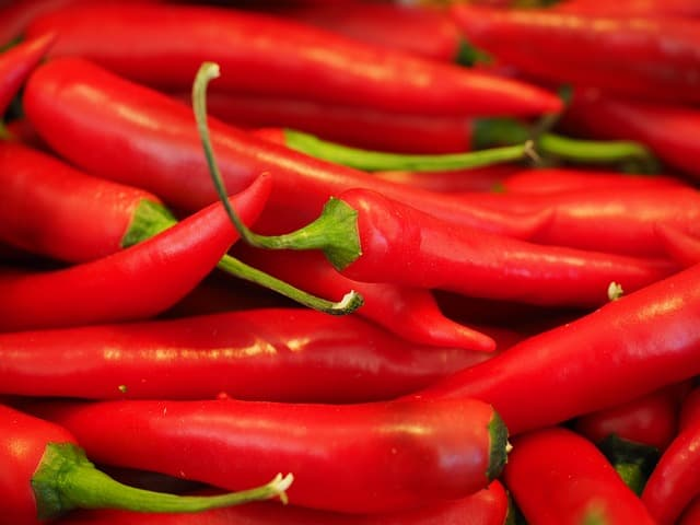 Photo d'illustration. Des piments rouges.