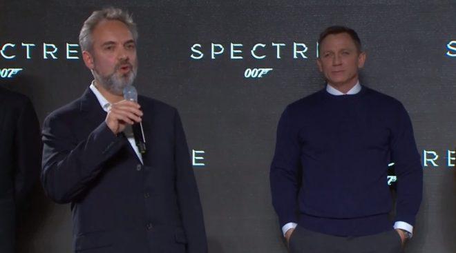 Daniel Craig et Sam Mendes à la conférence de Presse pour présenter le nouveau James Bond
