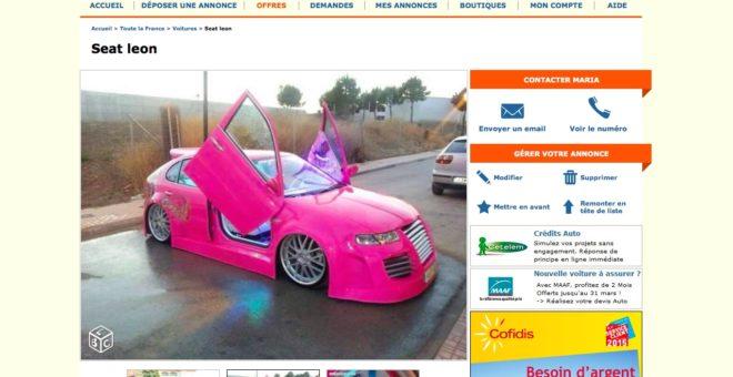 La Seat Leon rose tuning à vendre sur Le Bon Coin