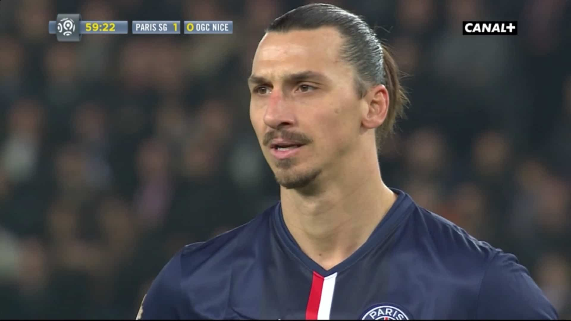Zlatan Ibrahimović lors du match PSG - Nice du 29 novembre 2014