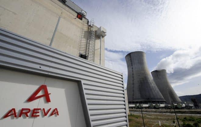 Photo du logo d'Areva sur le site nucléaire du Tricastin, le 4 avril 2011