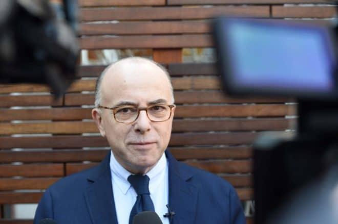 Le ministre de l'Intérieur Bernard Cazeneuve, le 19 février 2015 à Mountain View