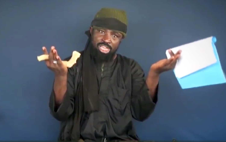 Capture d'écran d'une vidéo du chef de Boko Haram Abubakar Shekau, diffusée le 17 février 2015, dans laquelle il promet d'empêcher la tenue des prochaines élections au Nigeria