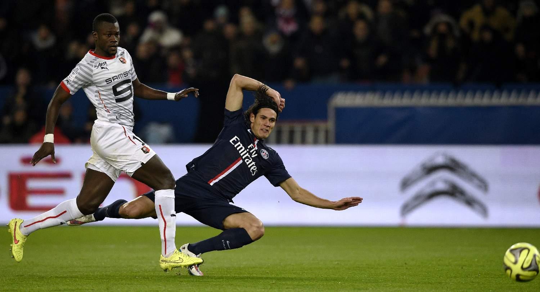 Edinson Cavani, l'attaquant du PSG lors d'une rencontre avec Rennes, le 30 janvier 2015.