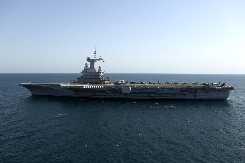 Le porte-avions Charles de Gaulle en mission dans le Golfe le 26 février 2015