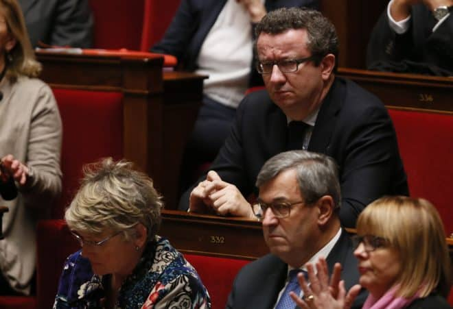 Le député PS Christian Paul le 17 février 2015 à l'Assemblée nationale à Paris