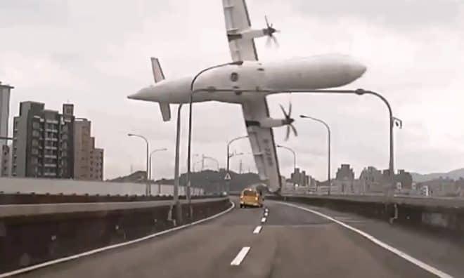 Une image de l'avion de transAvia juste avant le crash