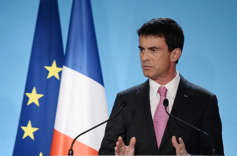 Le Premier ministre Manuel Valls le 25 février 2015 à Paris lors de la conférence sur la dialogue social