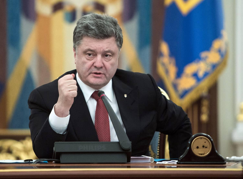 Le président ukrainien Petro Porochenko à Kiev le 18 février 2015