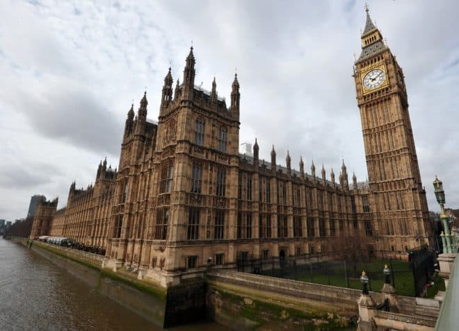 Le palais de Westminster, photographié le 16 avril 2013