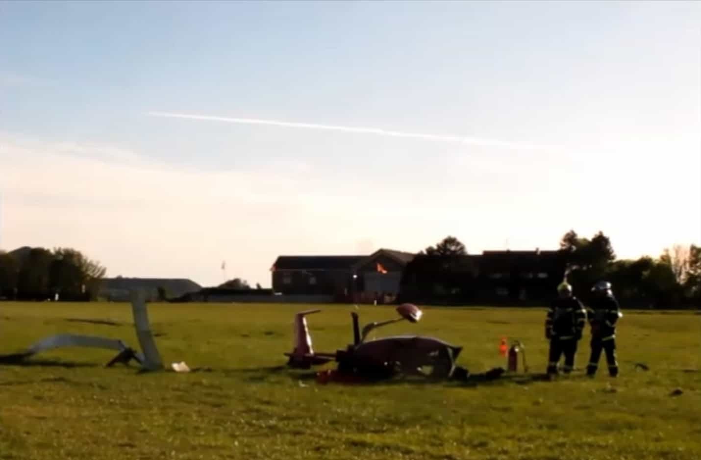 Crash d'un autogire à l'aérodrome de Benifontaine