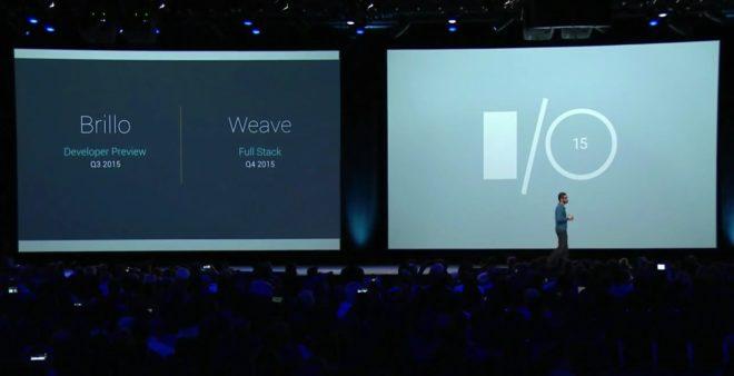 """""""Brillo"""" et """"Weave"""" dévoilés à la conférence I/O 2015 de Google"""