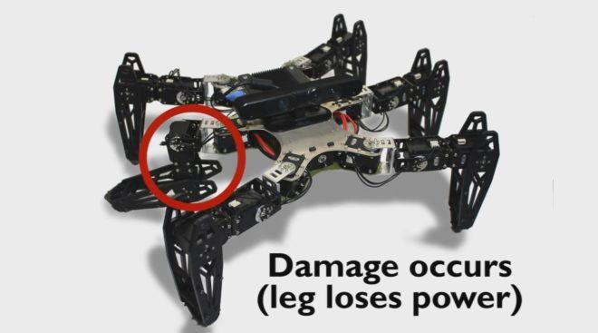 Robot capable d'essayer, d'apprendre et de se réparer automatiquement