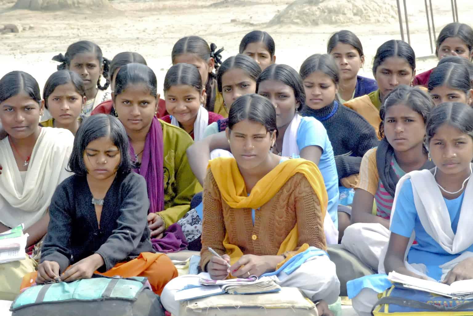 Enfants d'une classe en Inde
