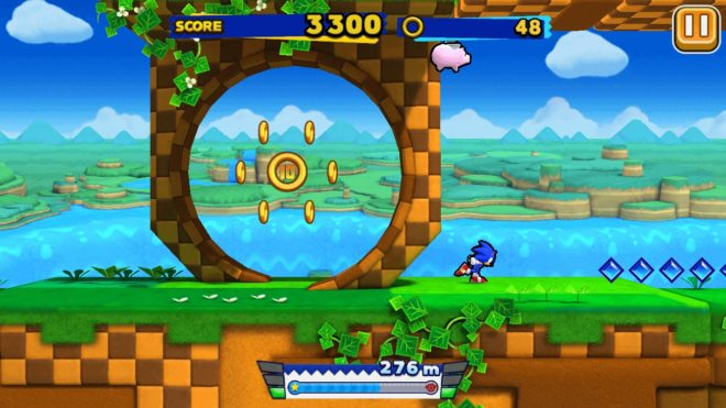 Sonic Runners sur iOS et Android