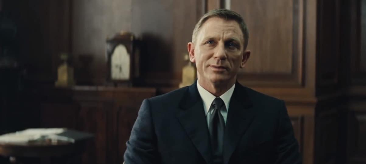 Daniel Craig. Capture d'écran du prochain James Bond : Spectre.