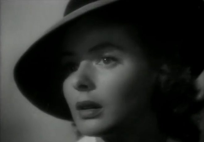 "Ingrid Bergman dans ""Casablanca"""