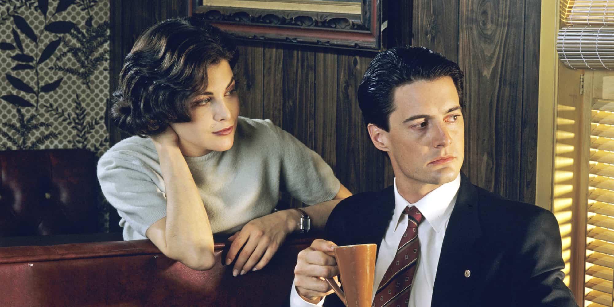 Kyle MacLaughlin et Sherilyn Fenn dans Twin Peaks.