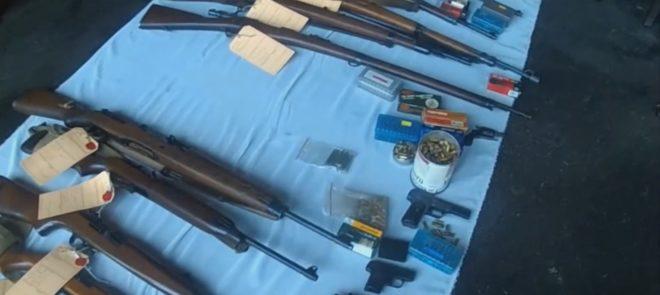Arsenal d'armes et de munitions découvert chez un particulier des Vosges