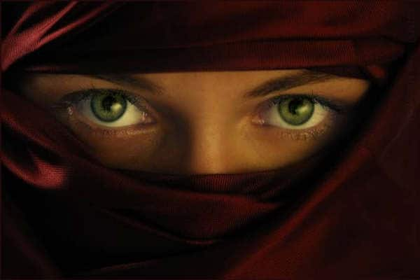 Une femme portant le niqab. Photo d'illustration