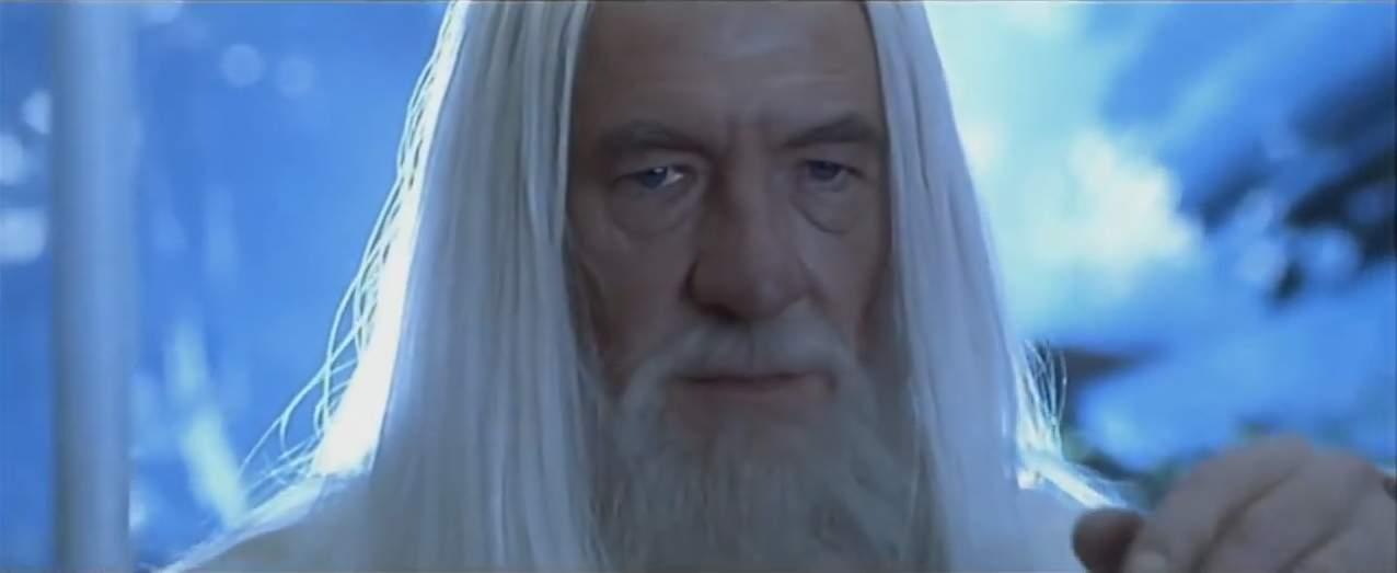 """Gandalf (Ian McKellen) dans """"Le Seigneur des anneaux : Les Deux Tours"""""""