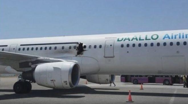 Avion de Daallo Airlines après l'attentat du 2 février 2016