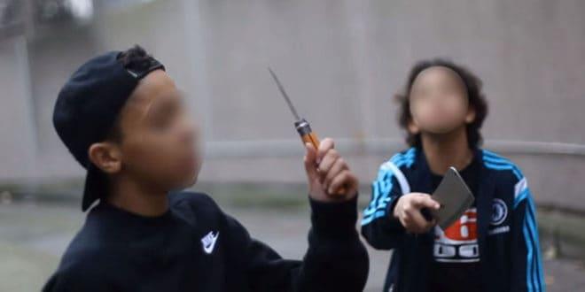 Des collégiens mineurs dans un clip de rap