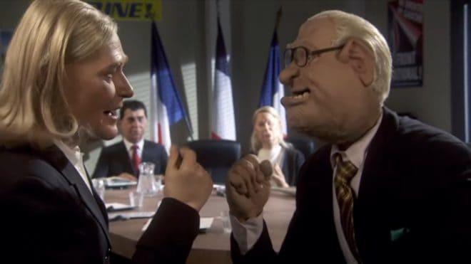 Marine et Jean-Marie Le Pen dans les Guignols de Canal+