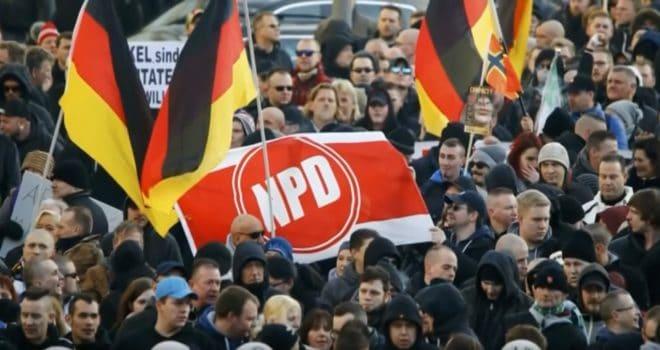 Rassemblement du parti néo-nazi allemand NPD