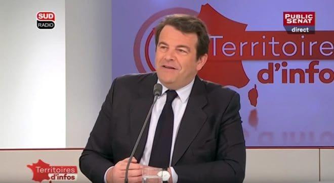 """Thierry Solère le 7 mars 2016 à l'émission """"Territoires d'infos"""""""