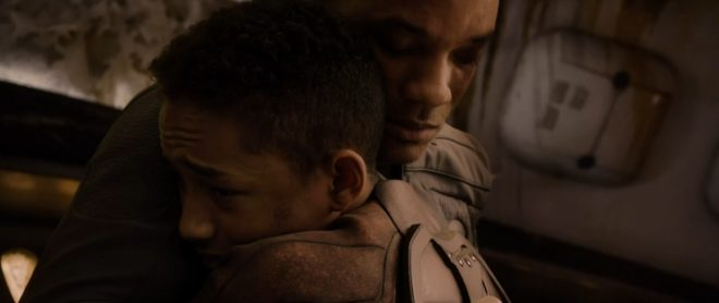 "Will et Jaden Smith dans ""After Earth"""