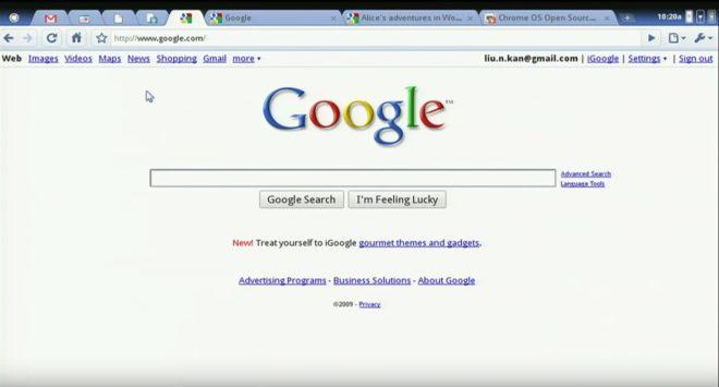 Démonstration du Google Chrome OS