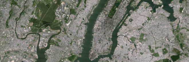 Brooklyn vu par Landsat-7