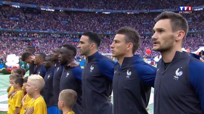 L'Équipe de France de Football le 11 juin 2016 pour France / Roumanie