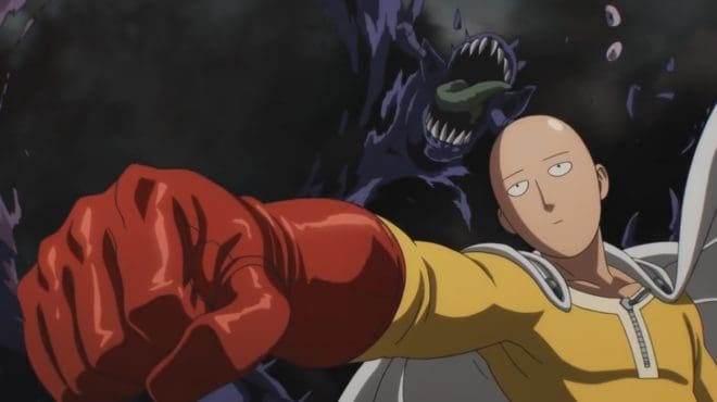 """Saitama, personnage principal de la série animée """"One Punch Man"""""""