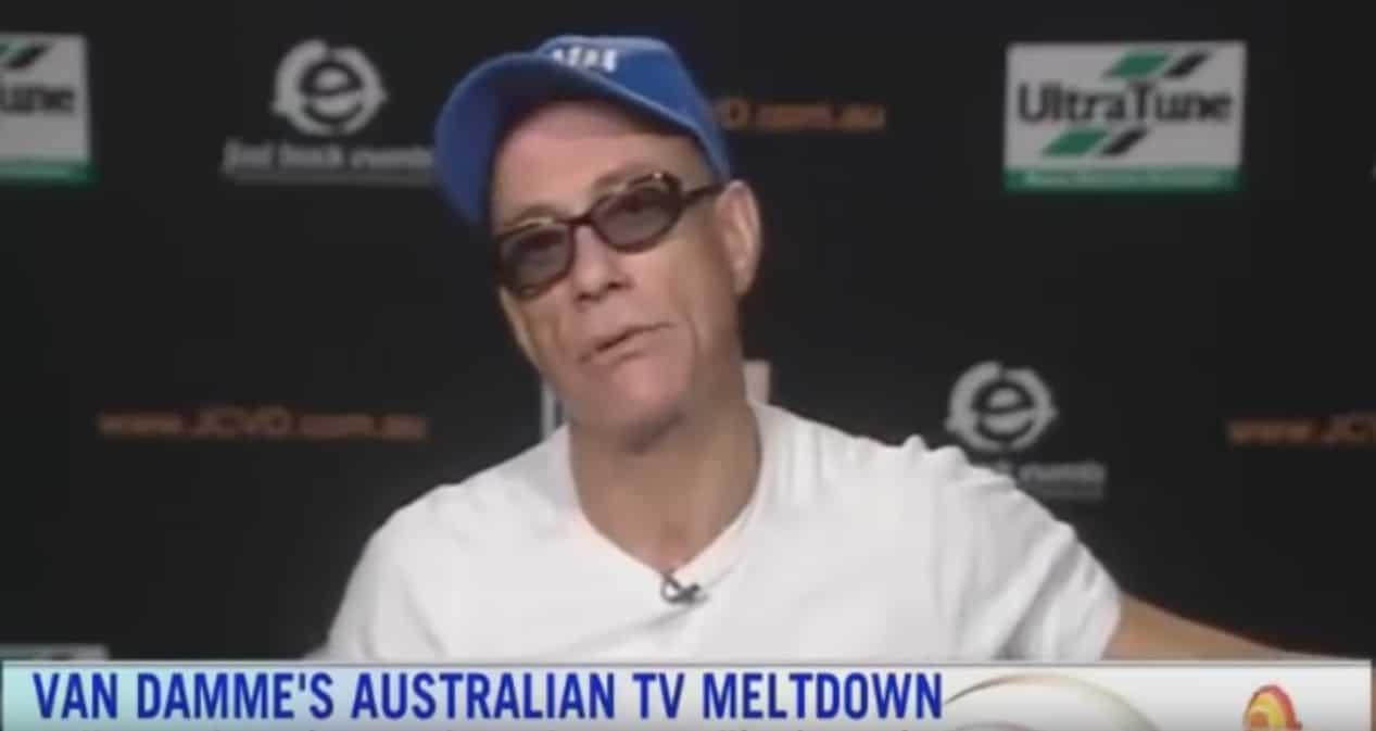 Jean-Claude Van Damme a la télévision australienne