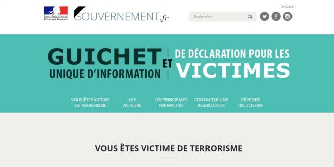 Capture de la page d'accueil du Guichet Unique d'Information et de DEclaration (GUIDE)