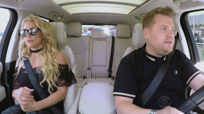 Britney Spears dans la voiture de James Corden