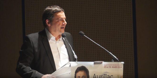 Pierre Mathonier, maire d'Aurillac