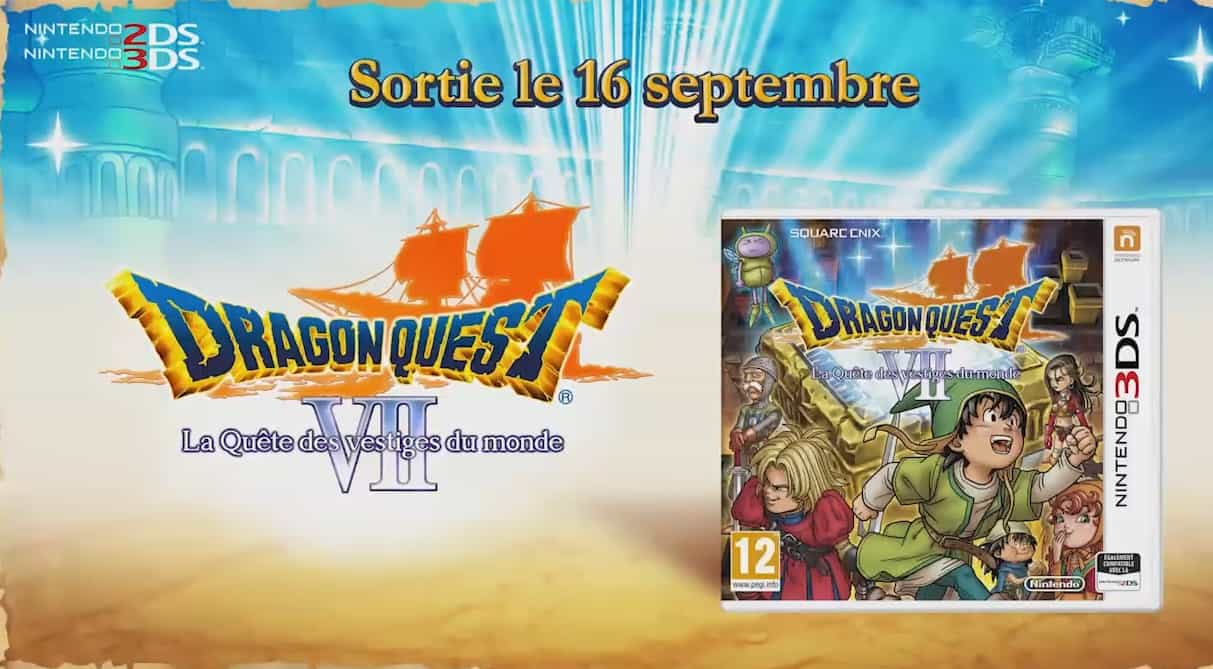 """""""Dragon Quest VII"""", sortie le 16 septembre en France sur 3DS"""